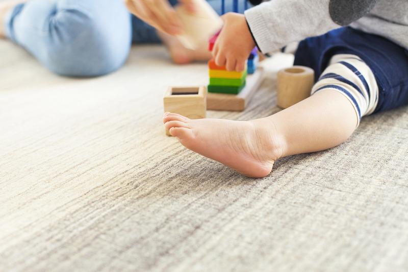 赤ちゃんのために、安心して使えるプレイマット!