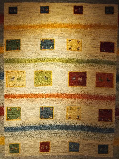 マツコの知らない世界で紹介。特集されたゾランヴァリギャッベの中から厳選したアートギャッベです。
