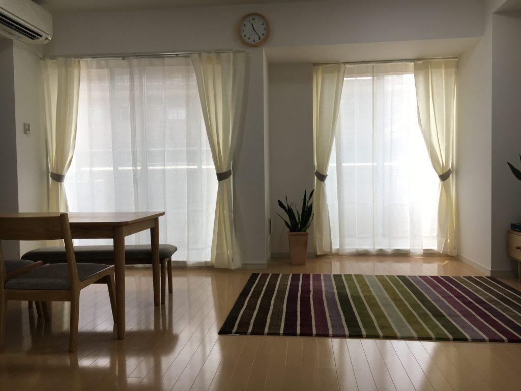 【リネンカーテン】爽やかな空間に、爽やかなリネンを。