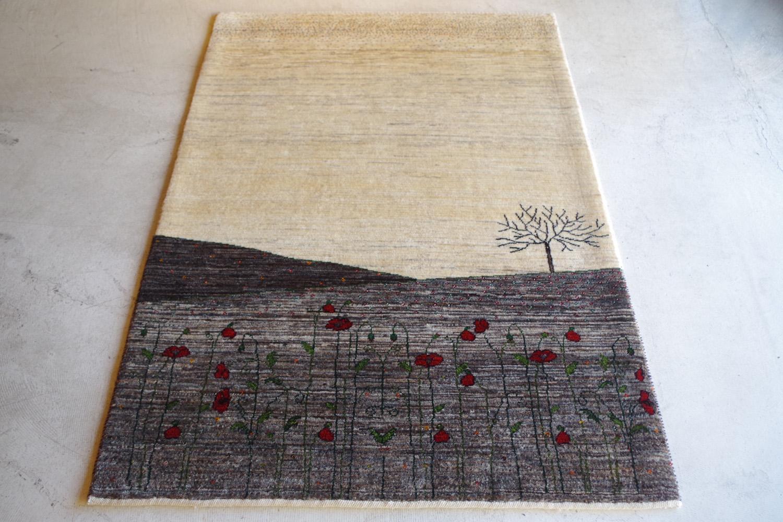 「詫び寂び」を感じる、風景画のアートギャッベ