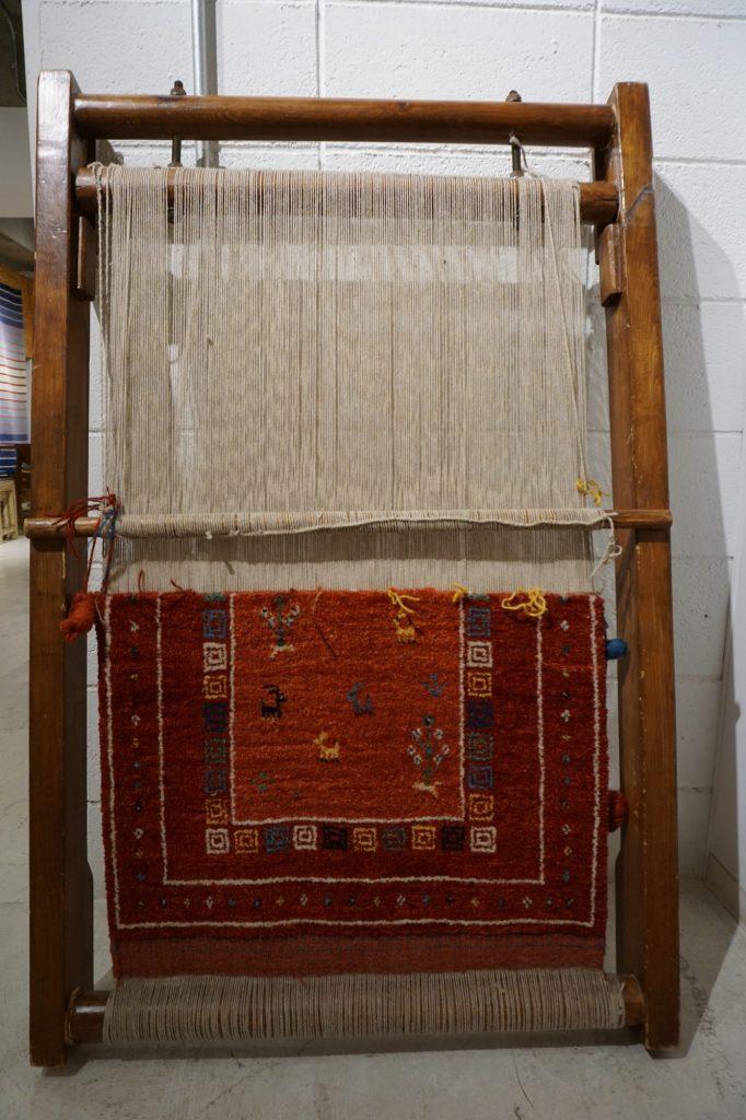 アートギャッベの織り目