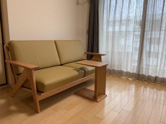 ブラックチェリー材の家具をお届けしました