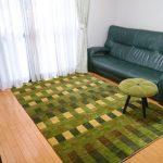 くつろぐ場所で使うじゅうたんのサイズは?