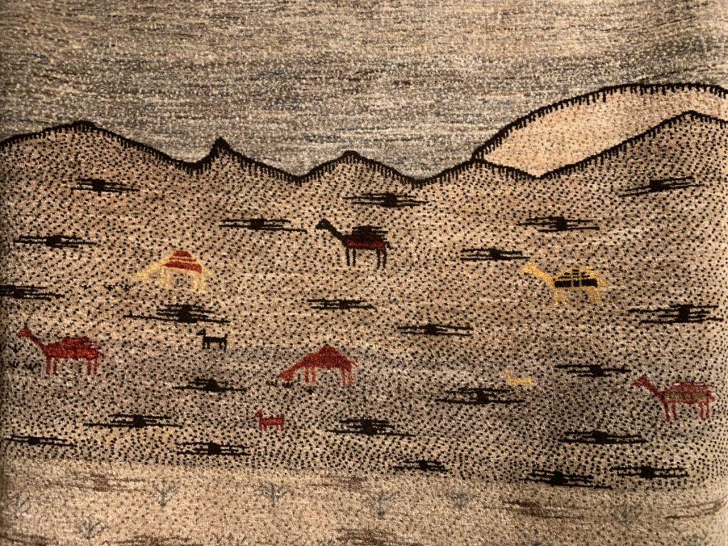 風景画のギャッベ