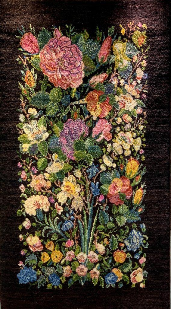 花柄のアートギャッベ