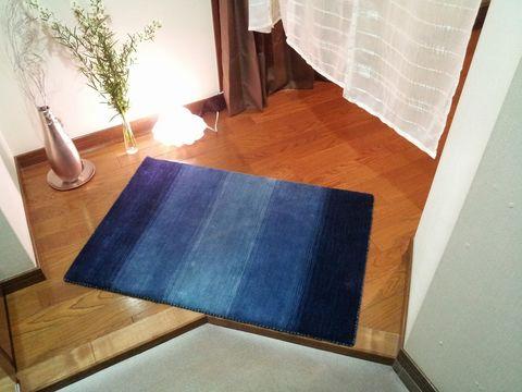 青のハグみじゅうたん玄関サイズ