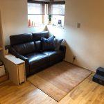 素敵な無垢の床のご自宅に上質な雰囲気のアートギャッベ