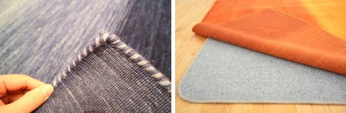 ハグみじゅうたんの裏面とホットカーペット併用イメージ